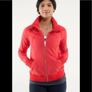 Lululemon Blissed Out Jacket Love Red